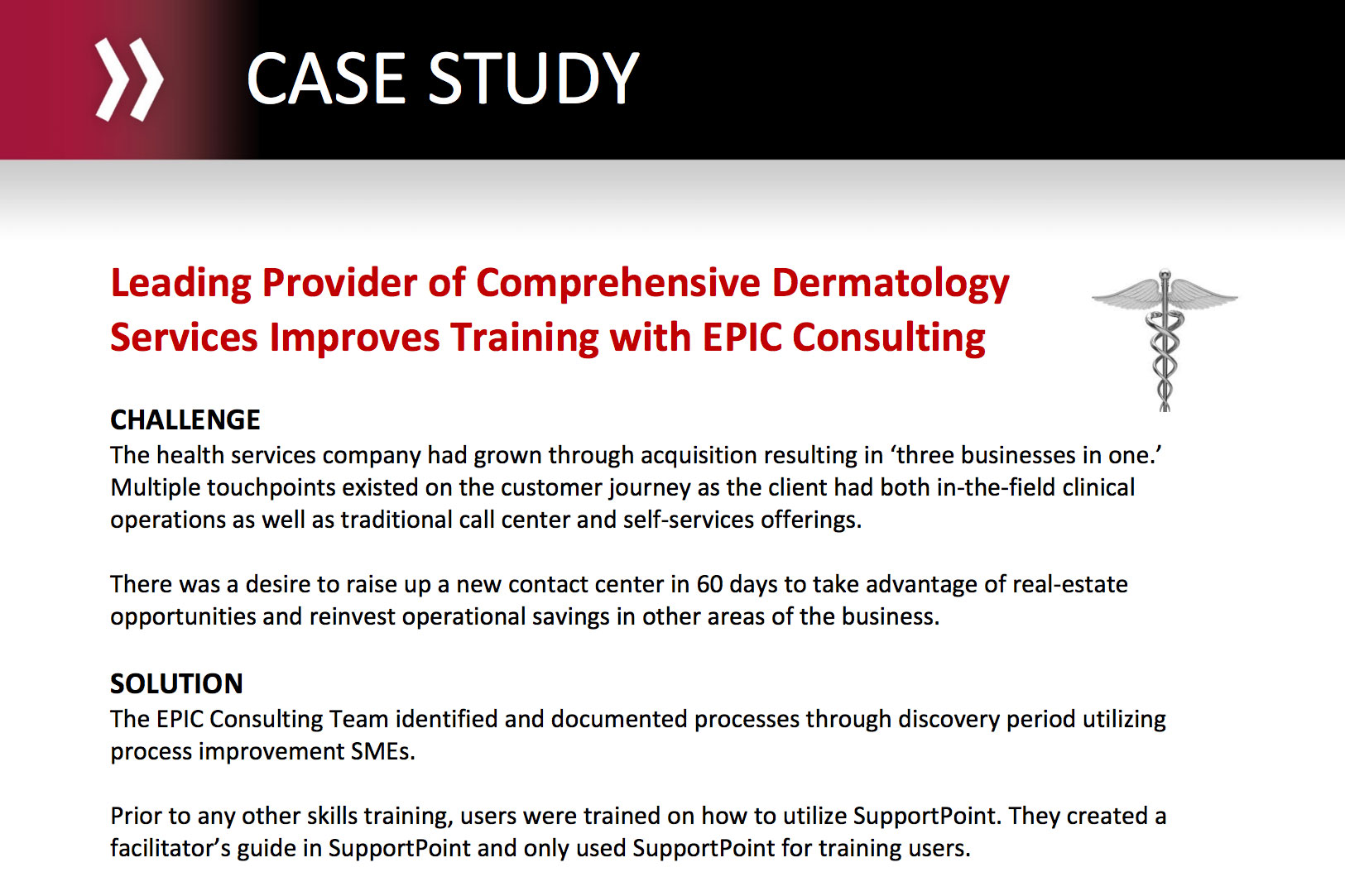 Leading Provider of Comprehensive Dermatology Services Improves Training with EPIC Consulting