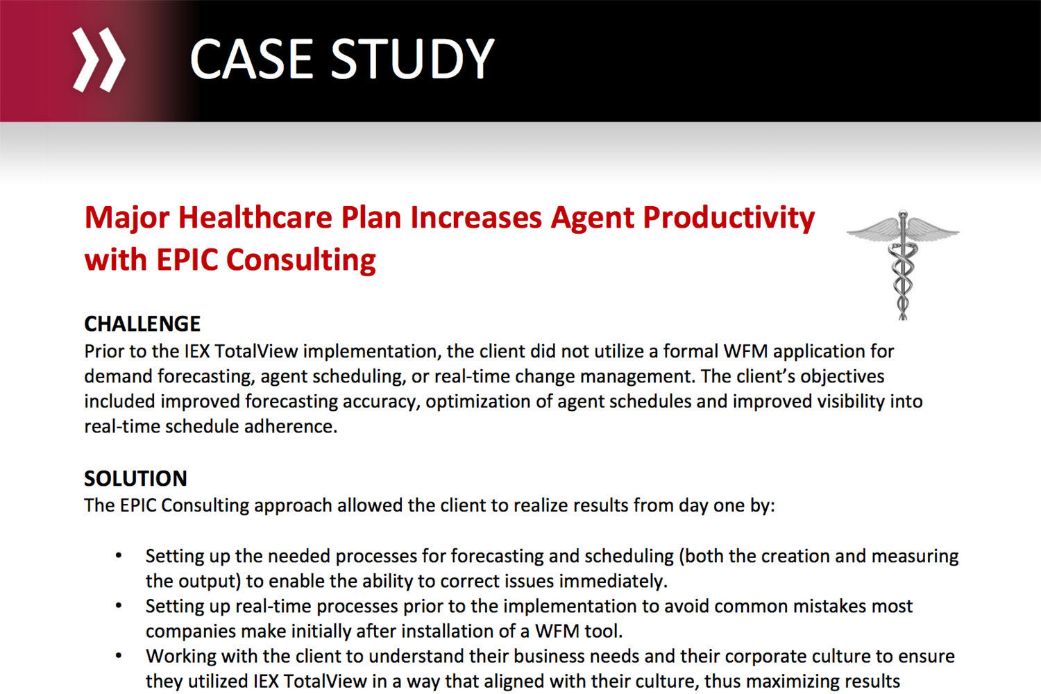 Major Healthcare Plan Increases Agent Productivity with EPIC Consulting