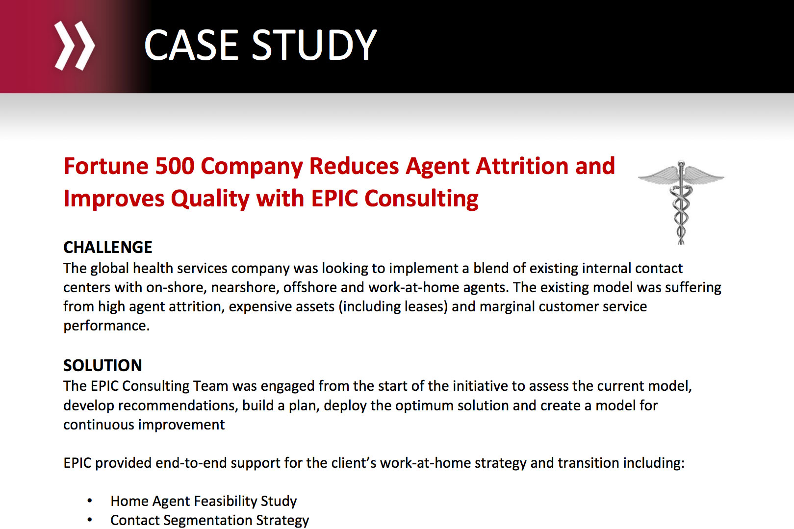 Fortune 500 Company Reduces Agent Attrition and Improves Quality with EPIC Consulting