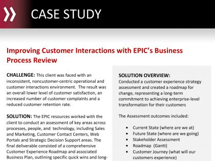 Improving Customer Interactions with EPIC's Business Process Review