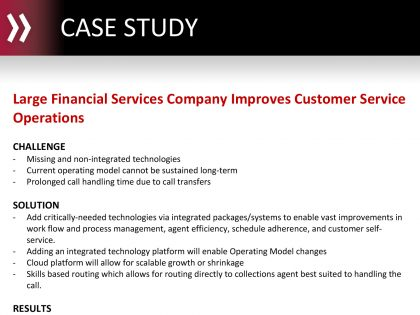 Large Financial Services Company Improves Customer Service Operations