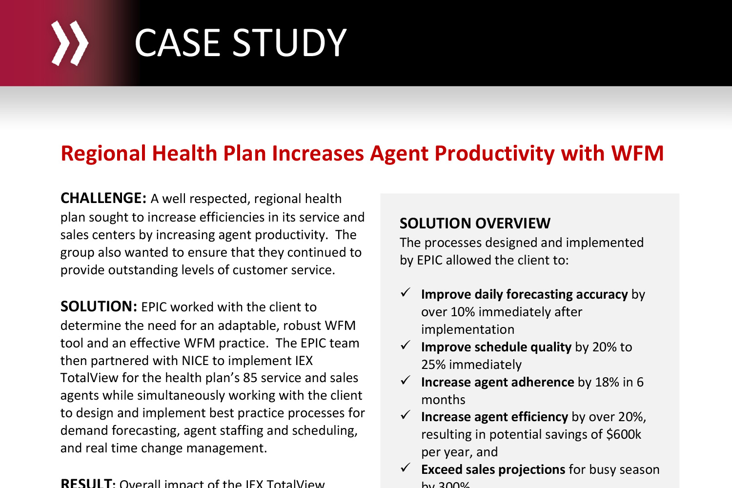 Regional Health Plan Increases Agent Productivity with WFM