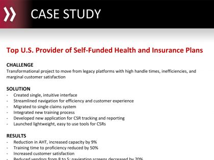 Top U.S. Provider of Self-Funded Health and Insurance Plans